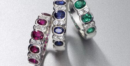 Alianzas de color con Zafiros, Rubíes y esmeraldas