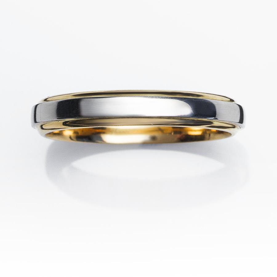 Alianzas-de-boda-ALIANZA-SAGA-BICOLOR-PLA0011-D1. Anillos de matrimonio oro amarillo